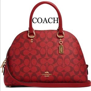 COACH Katy Satchel In Signature Canvas IM/1941 RED